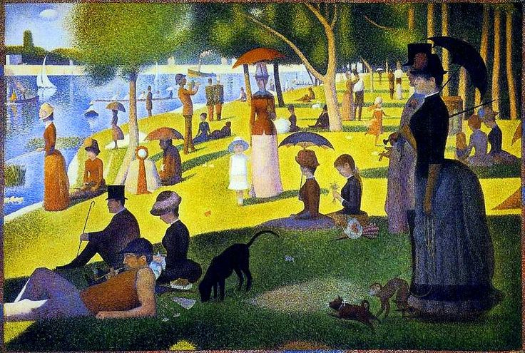 Georges Seurat - Un dimanche apres midi sur le Grande Jatte - 1885 - One of my favorite paintings to stand and view or just sit and get lost in at the AI.