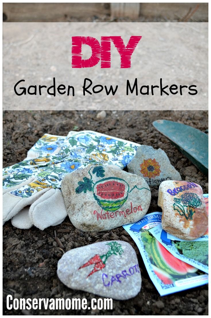 This DIY Garden Row Markers project is a fun way to add a little color to your garden and keep all of your veggies and fruit organized.