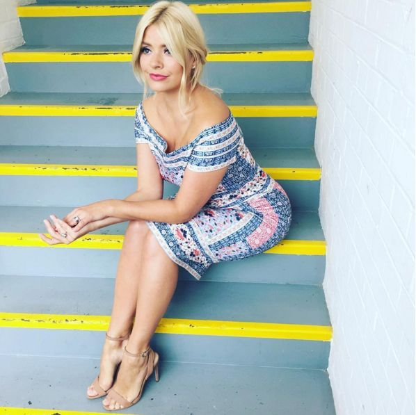 <p>Proving that a high street frock can look just as fabulous as a four figure one, Holly showed off her summer style in this patterned piece from Oasis this week. <i>[Photo: Instagram/Holly Willoughby]</i></p>