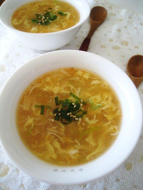 カニの卵入り?中華スープ。 | 美肌レシピ