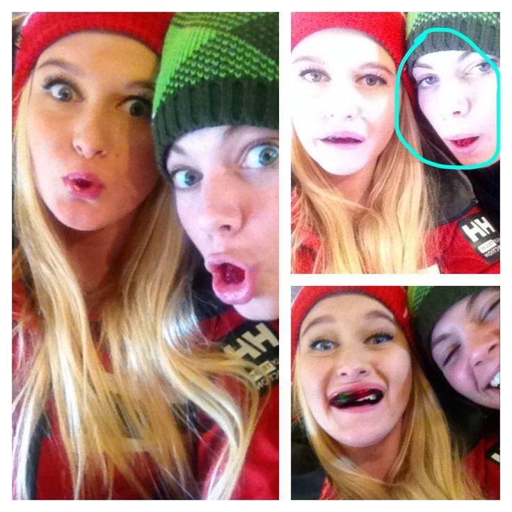Silly faces, haha
