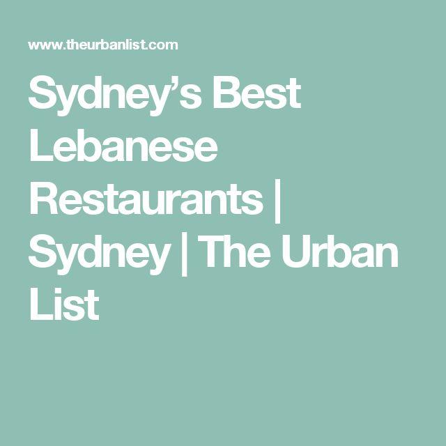 Sydney's Best Lebanese Restaurants | Sydney | The Urban List
