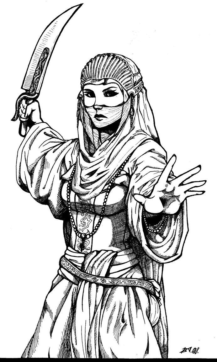 Desert warrior  by ~greenhair