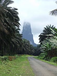 Pico Cao Grande on the island of Sao Tome, where Hugo's from, and directly south of where Ethan will be serving his mission, is 6,640 feet high on an island that is only 30 miles long and 20 miles wide.  That's practically straight up, right?  Jim, want to go climbing?