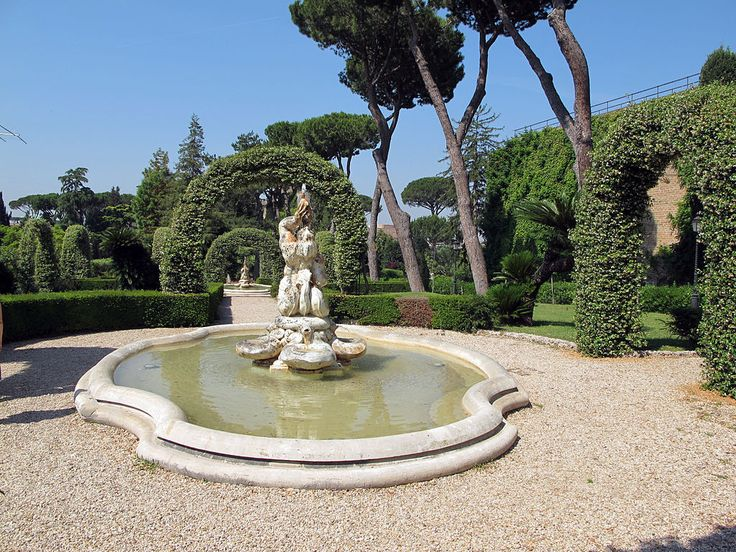 Giardini vaticani, giardini formali 02 - Rome — Wikipédia