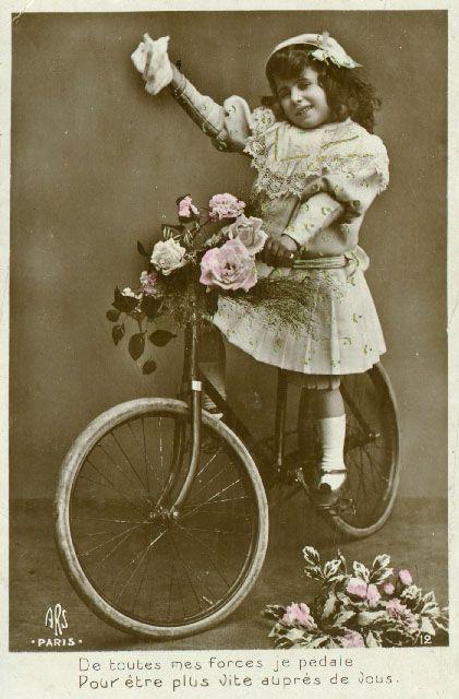 Victorian girl on bikeVintage Postcards, Girls On Bikes, Children 37, Victorian Children, Vintage Photos, Victorian Girls, Vintage French, Bikes Ready, French Postcards