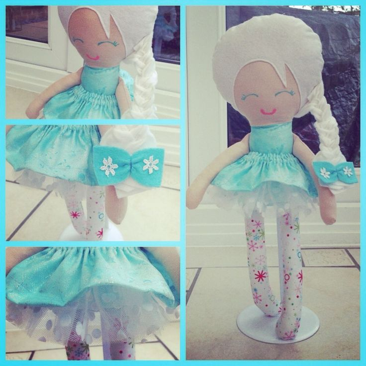 Handmade Frozen snow sister Elsa Inspired Doll with white Tutu skirt