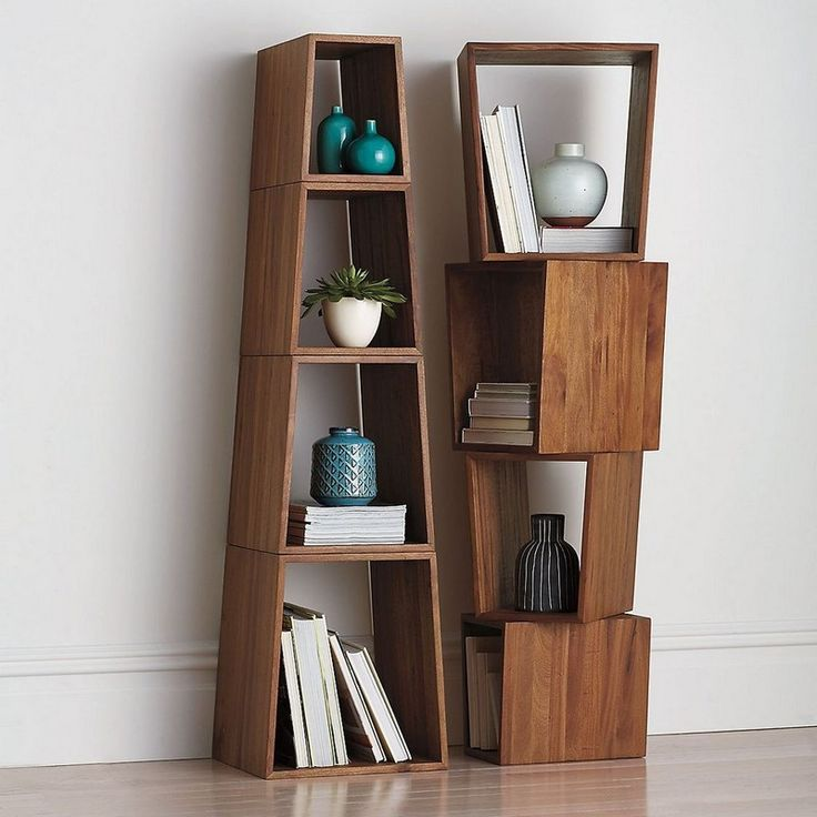 Idea to use these in master bedroom next to comfy chair in the corner (two stacked as side table) Pyramid Shelf System