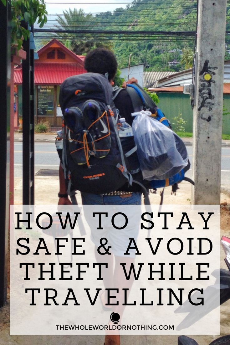 When you're travelling it's unbelievably important to know how to stay safe  and avoid theft. We've been victims of scams ourselves and know plenty of  people who have run into trouble on the road. But there are things you can  do to reduce the likelihood of this happening.