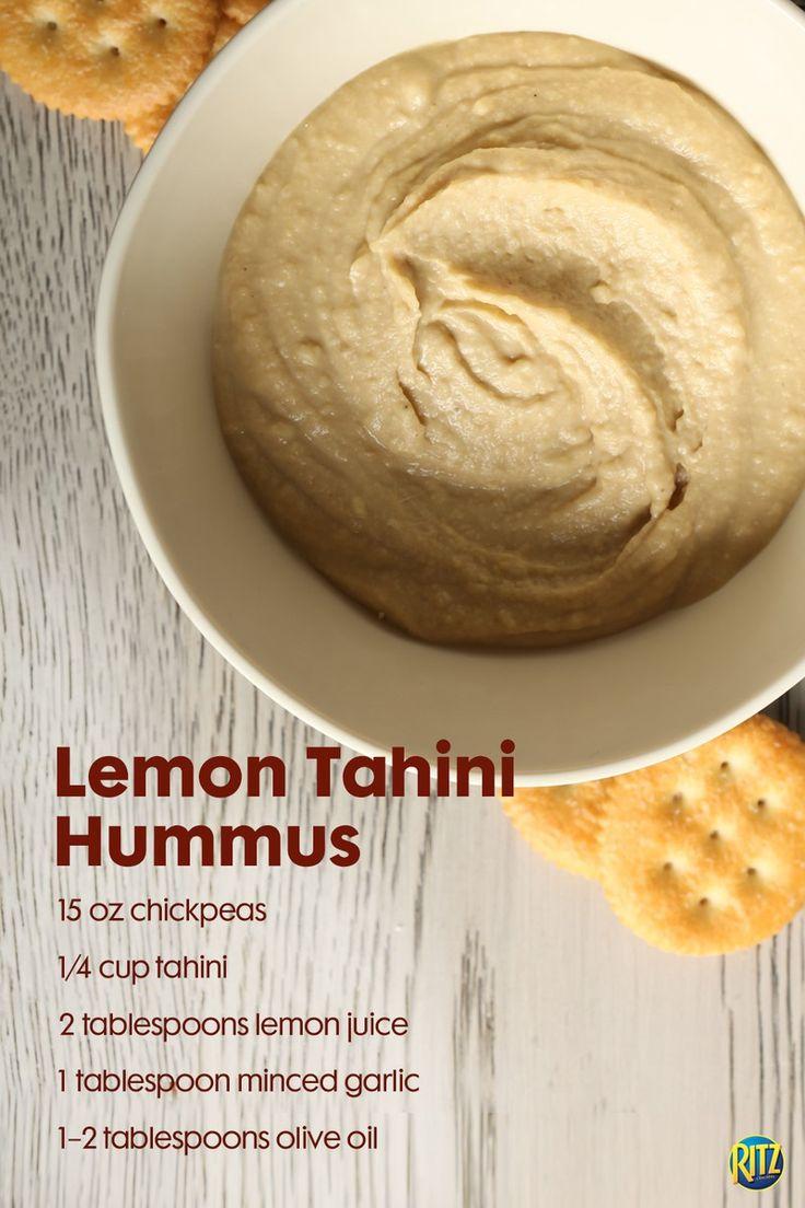 Yummy lemon tahini hummus recipe