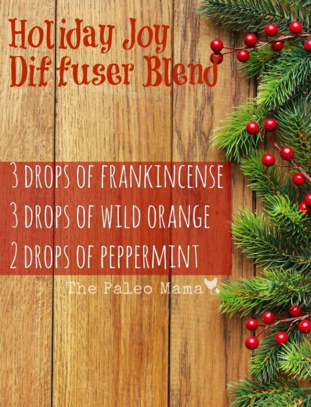 holiday joy diffuser blend essential oil drops per wax for candle - Christmas Essential Oils