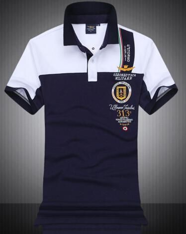 2017 Summer Brand New Mens T-shirts High Quality 100% Cotton AERONAUTICA  Militare Polo shirts Air Force One Italy tommy Shirts Tops  802 8d78448a9b