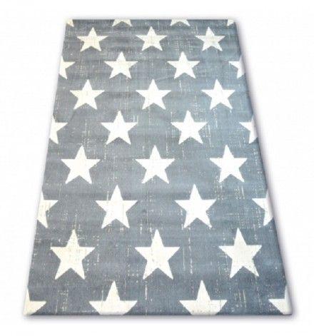 Detský koberec Biele hviezdy