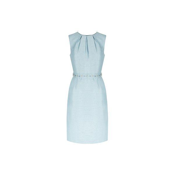 Nixie Dress (9.815 RUB) ❤ liked on Polyvore featuring dresses, embelished dress, monsoon dresses, no sleeve dress, sleeveless shift dresses and sleeveless dress