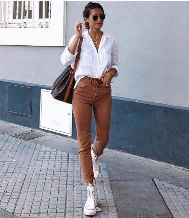 50 Ways To Style The Classic Button Down Shirt In 2020 Fashion Pinterest Fashion Cool Outfits