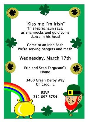 9 best images about saint patricks day party invitations on