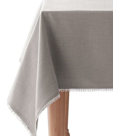 Look what I found on #zulily! French Perle Gray Tablecloth #zulilyfinds
