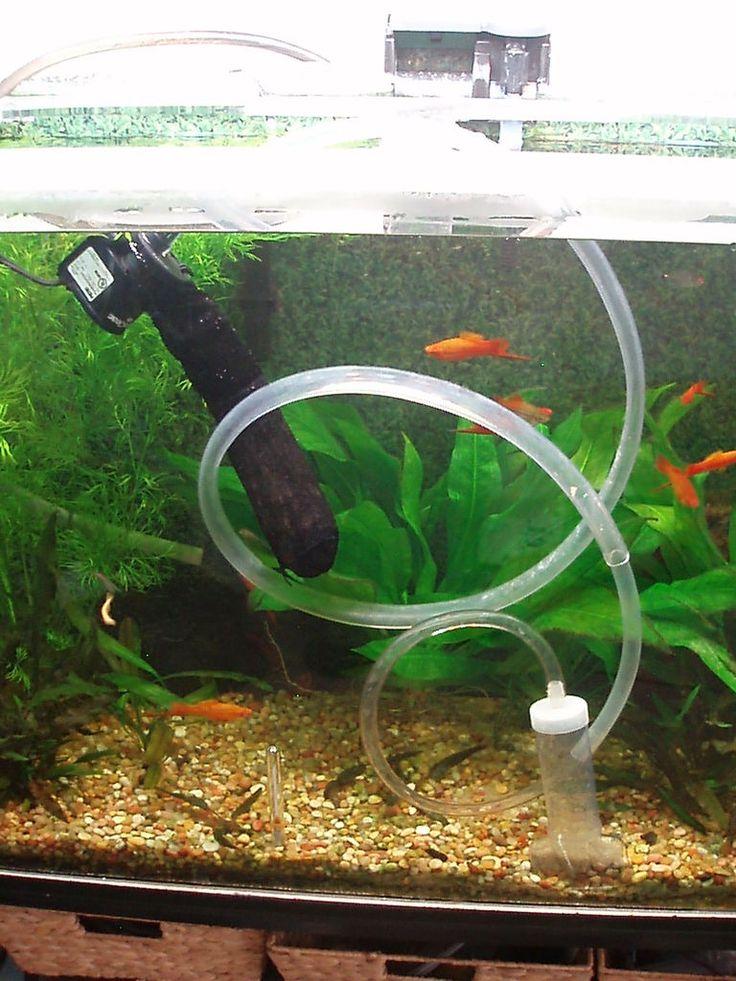Как правильно поставить в аквариум компрессор фото настолько