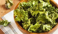 Baked Kale Chips:  Kale is a superfood. It's loaded with Vitamins A, C, K, and rich in anti-inflammatory properties.  But it's fibrous texture and strong taste can be a tough sell for kids.  Making kale chips turns this nutritional powerhouse into a bite-sized snack the kids can help make.  Getting kids in the kitchen is a great way to raise healthy eaters, and it's also a fun way to spend time with them!