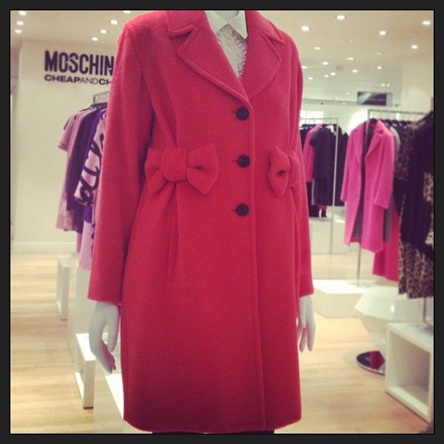 .@Harvey Nichols Favourite reason to get up in the cold weather? Pulling on cosy coats - like this cute Moschino Cheap & Chic number! #moschino #cheapandchic #mymoschino #pink #coat