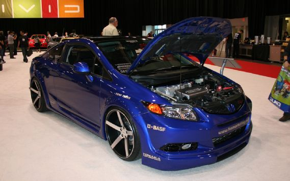 2012 Honda Civic SI Coupe By Fox Racing Front Three Quarters.JPG Photo 24