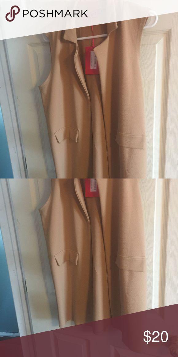 Boohoo camel vest Very nice sleeveless vest Jackets & Coats Vests