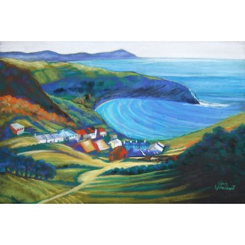 lulworth cove | Lulworth Cove by Chris Wilmshurst @ Mini Gallery - Pastel Drawing