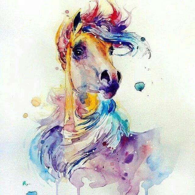 Watercolour horse