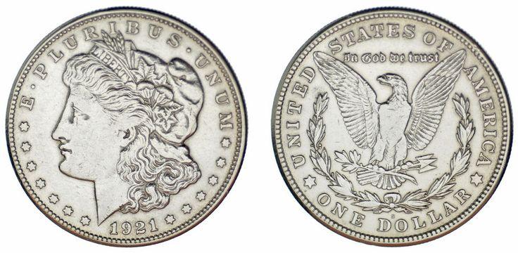 1 SILVER US DOLLAR / 1 DÓLAR MORGAN PLATA. SAN FRANCISCO. 1921 S. VF+/MBC+.