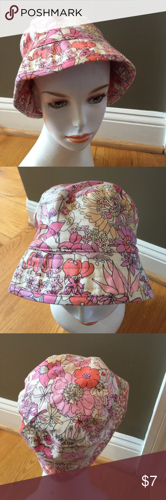 Liberty of London target floral bucket hat cap Great auth hat shows wear priced accordingly liberty of london Accessories Hats