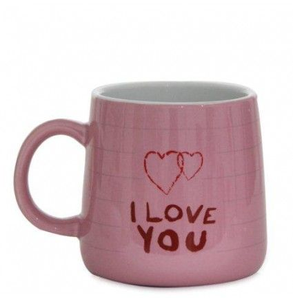 A pink colored mug with I love you written on it would make an ideal gift on this valentine day.