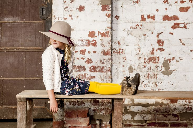 OUCH Kids Clothing #girlsfashion #kidsfashion #yellow #winter #floral #photoshoot