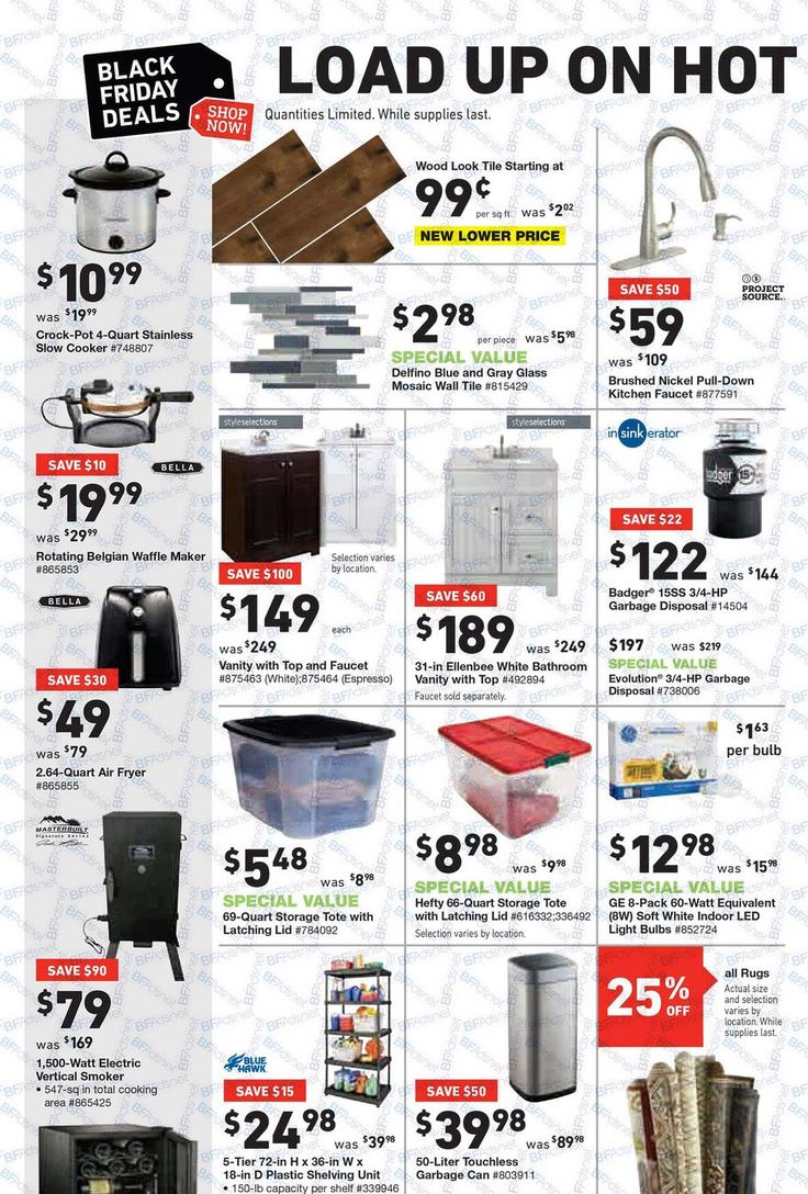 Lowes Black Friday 2017 Ads and Deals Improve and update your home for less when you take advantage of Lowe's Black Friday deals. See the official Lowe's Black Friday ad right here to ... #lowes #lowesblackfriday #lowesblackfriday2017 #blackfriday #blackfriday2017