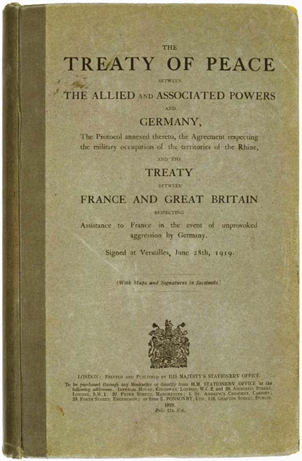 Treaty of Versailles/WWI to WWII lesson plan