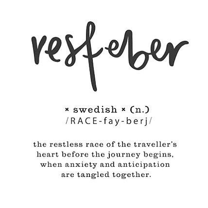 Resfeber | The restless race of a traveller's heart before the journey begins when anxiety and anticipation are tangled together. #resfeber #traveloffen