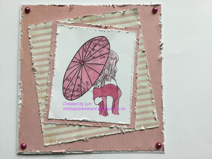 My DT card for The Crafty Addicts using Becca from Sheepskin Design
