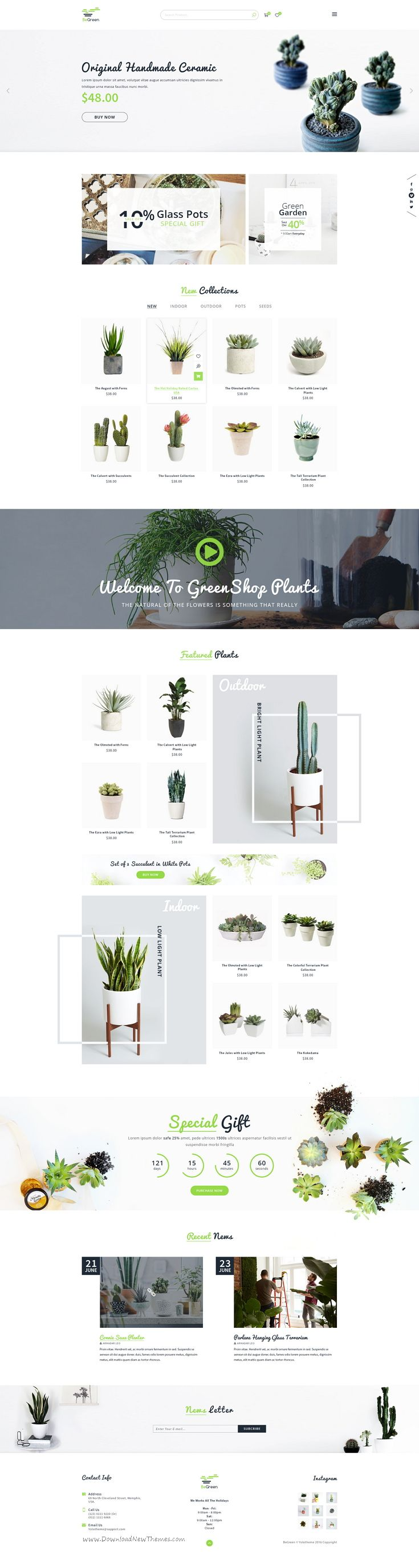 BeGreen is multipurpose 7 in 1 PSD #template for organic, agriculture or tree shop website with 21 #PSD files. #horticulture Download Now!