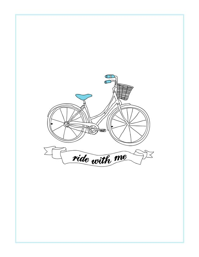 "IROCKSOWHAT: Free ""Ride With Me"" Bicycle Printable"