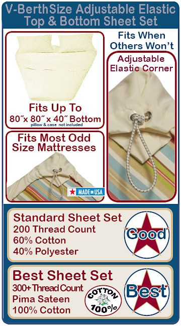 this would be easy to do too V-Berth Sheet Set