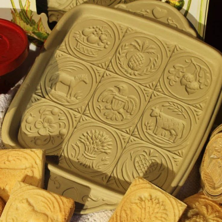 <p>American Butter Art Shortbread Pan In the early years of our country, farm wives decorated their home-made butter by stamping it with carved wooden images. This shortbread pan reinterprets nine of these antiques designs to decorate shortbread - the best…</p>