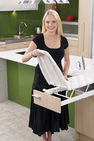 fold out ironing board in drawer