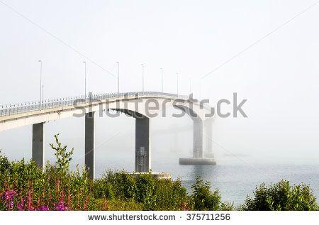 bridge disappearing in fog