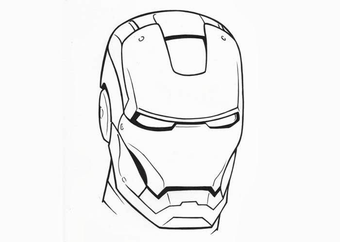 18 Iron Man Face Coloring Page