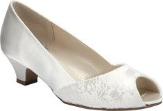 Women's+Pink+Paradox+London+Flourish+-+White+Satin+with+FREE+Shipping+&+Exchanges.+The+Flourish+is+a+bridal+heel+with+lovely+lace+decoration+around+the+toe+
