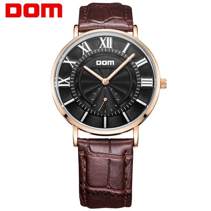 24.90$  Buy now - http://ali0ju.shopchina.info/go.php?t=32671627767 - DOM watch man top brand luxury waterproof leather watches  reloj hombre marca de lujo M-3211 24.90$ #buyonlinewebsite