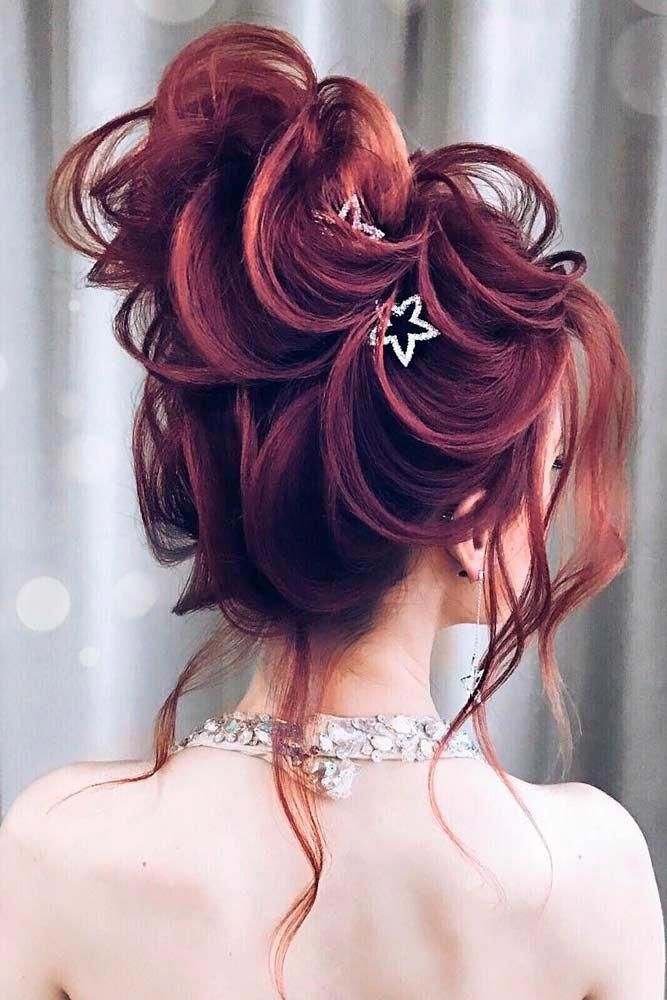 Red Messy Updo #redhair #messyhairstyle #updohairstyle ★  It is time to start looking through hairstyles for prom as this special event is coming up...