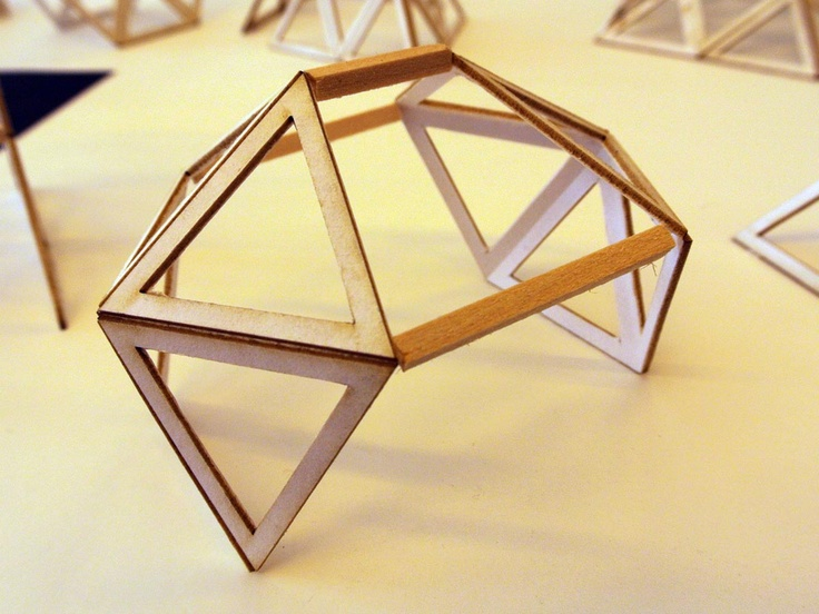Twelve types of shelters made from triangles triangle for Triangle concept architecture