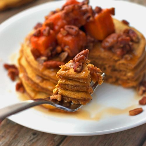 Butternut squash pecan pancakes (TNT) 4c5eab66da28b1bc5883e483e98d2b57