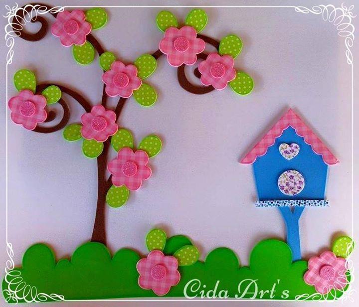 casa de passarinhos passarinhos e.v.a. eva emborrachados - by Cida Arts