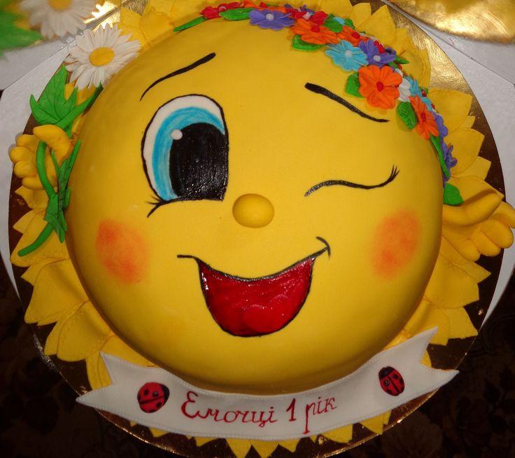 Сонячний #торт_на_заказ_городище #день_рождения #комбинированный_торт